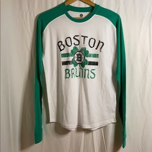 Women's Boston Bruins NHL baseball style tee